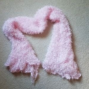 Accessories - Fuzzy Pink Scarf